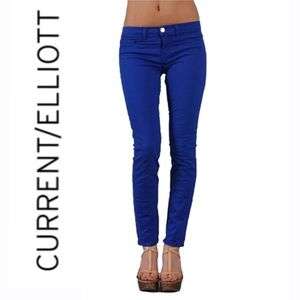 CURRENT/ELLIOTT⚡️Electric Blue Skinny Ankle Jeans